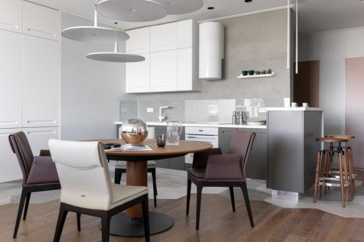 Отделка пола - Дизайн кухни-столовой
