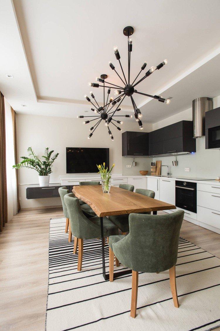 Дизайн потолка - Дизайн кухни-столовой