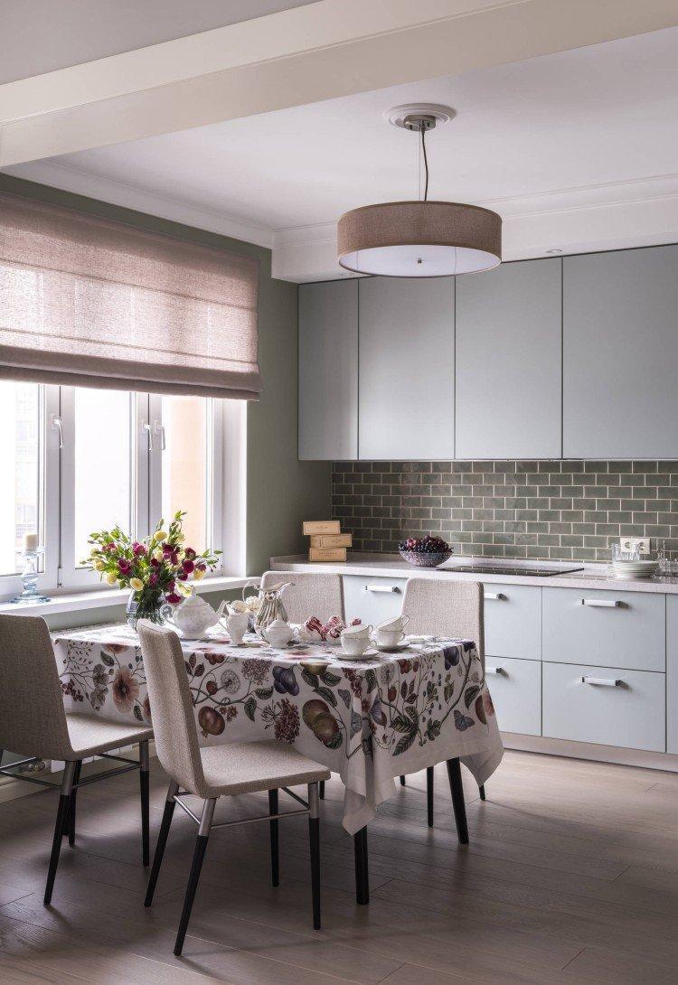 Текстиль и шторы - Дизайн кухни-столовой