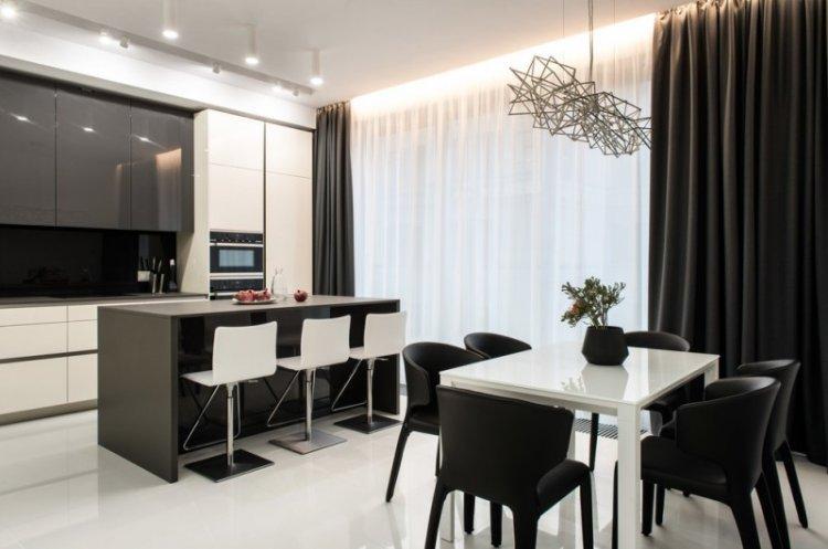 Освещение и подсветка - Дизайн кухни-столовой