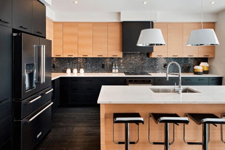 Бежевая кухня в стиле модерн - Дизайн интерьера