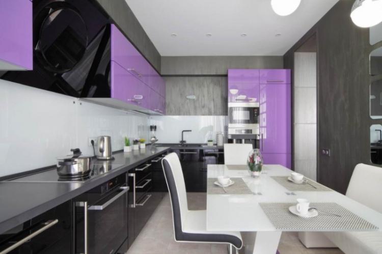Черная кухня в стиле модерн - Дизайн интерьера