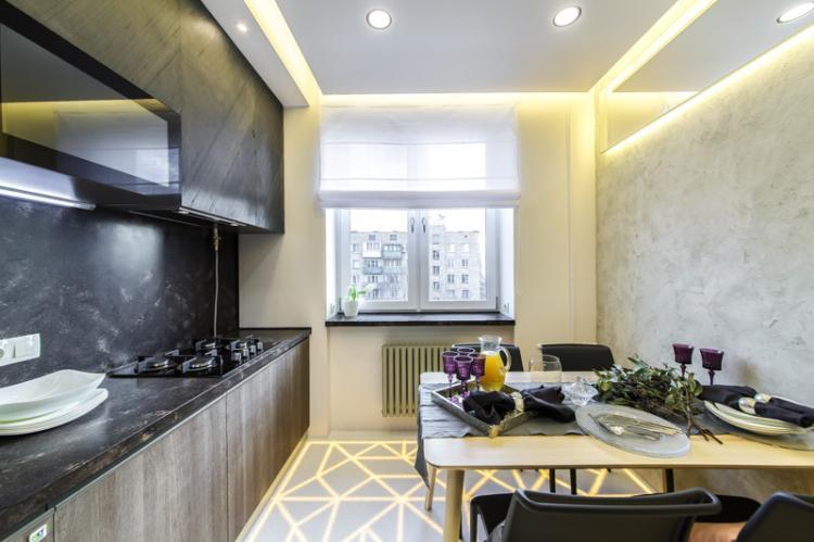 Дизайн потолка - Дизайн кухни в стиле модерн