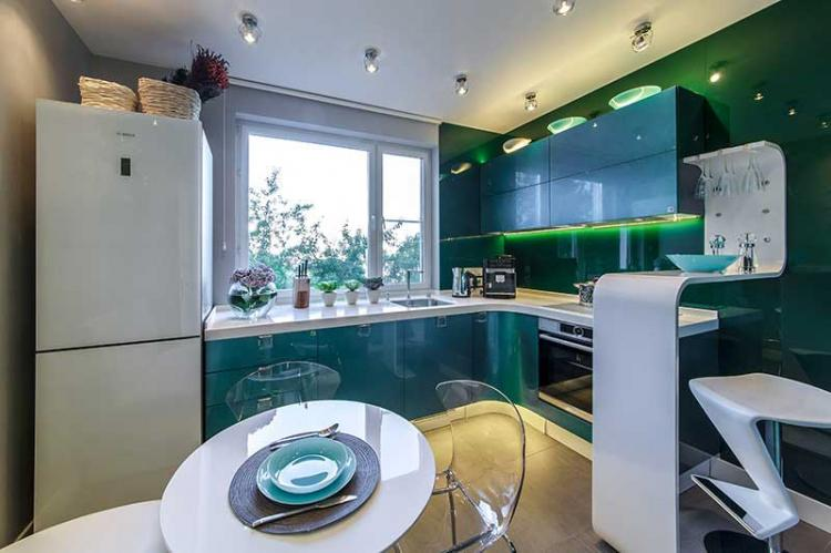Угловая кухня в стиле модерн - Дизайн интерьера