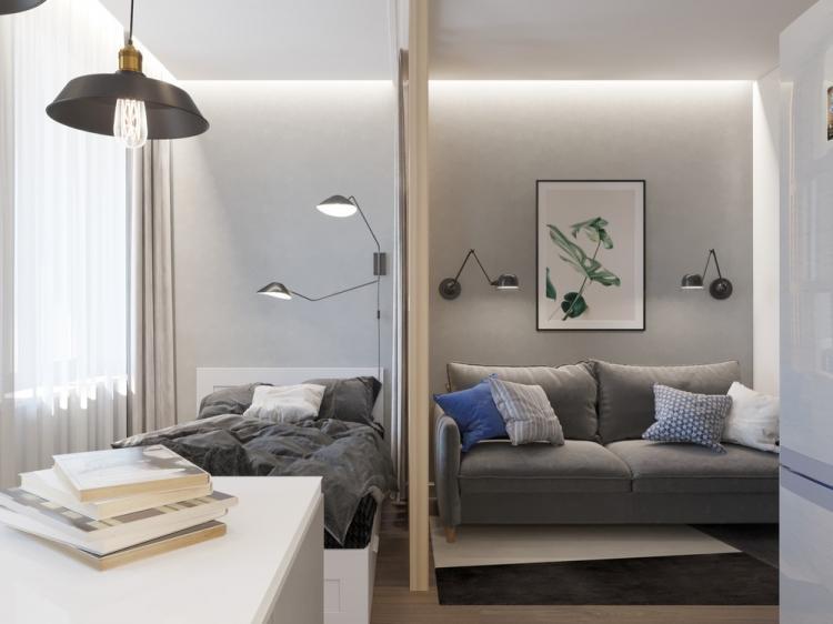 Квартира «Atmosfera», 29 кв.м. - дизайн интерьера