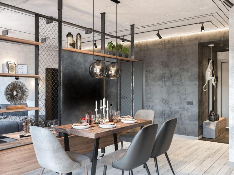 Квартира «Бетонный лофт» - дизайн интерьера