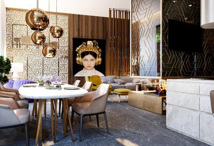 Квартира «Brass&Wood» - дизайн интерьера
