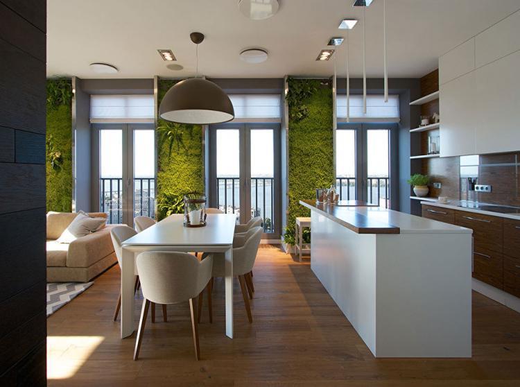 Квартира «Green Walls» - дизайн интерьера