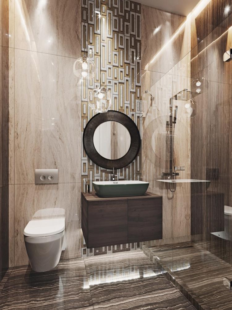 Дизайн квартиры «Мерцание моря», ЖК Скай Форт