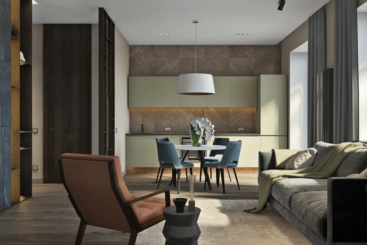Дизайн-проект квартиры «Стильное пространство»
