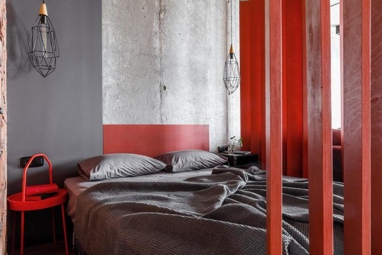 Квартира-студия 43 м2, Краснодар - дизайн интерьера