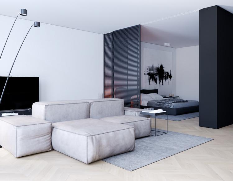 Квартира-студия «Interior Black»