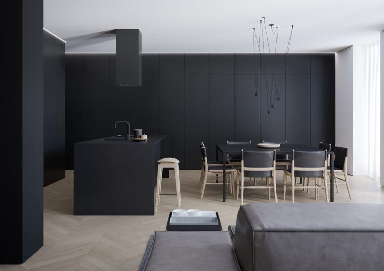 Квартира-студия «Interior Black» - дизайн интерьера