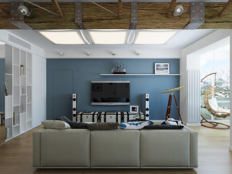 Квартира в морском стиле - дизайн интерьера