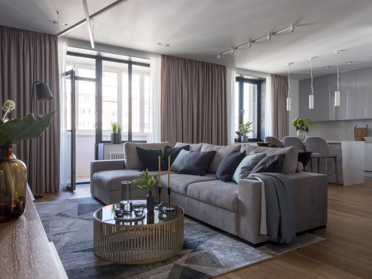 Квартира в современном стиле, 109 кв.м.