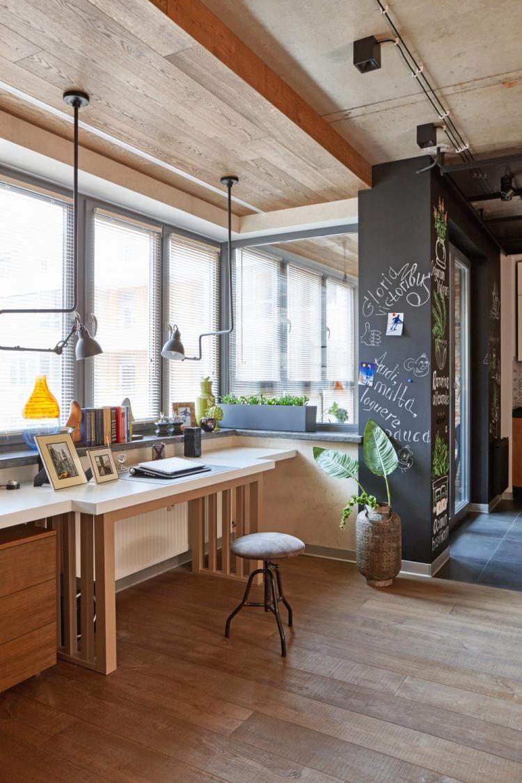 Квартира в стиле лофт, Мельниково - дизайн интерьера