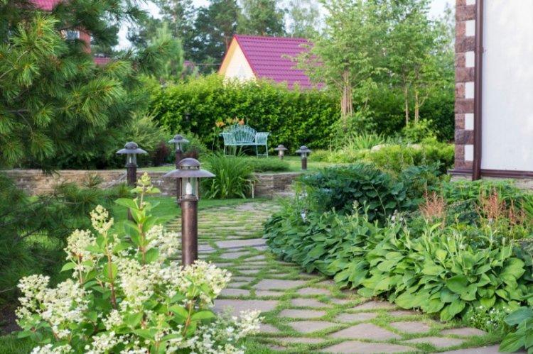 Садовые дорожки - Ландшафтный дизайн дачного участка фото