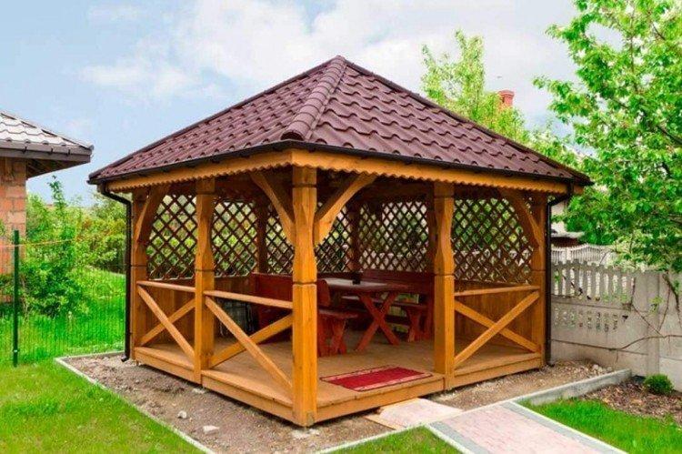 Садовые беседки - Ландшафтный дизайн дачного участка фото
