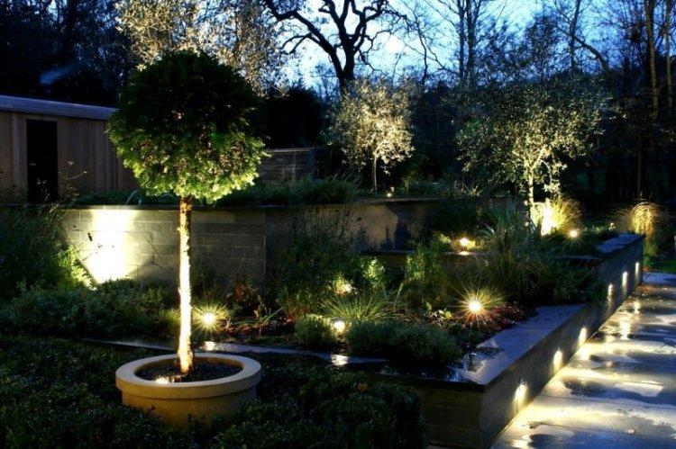 Освещение - Ландшафтный дизайн дачного участка фото