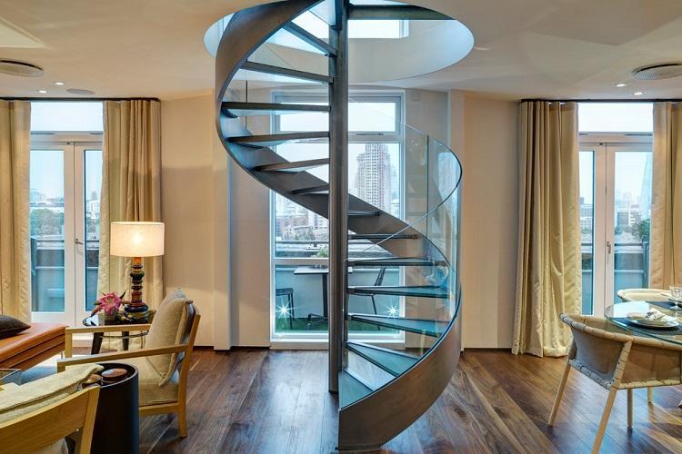 Винтовые лестницы - Виды лестниц на второй этаж