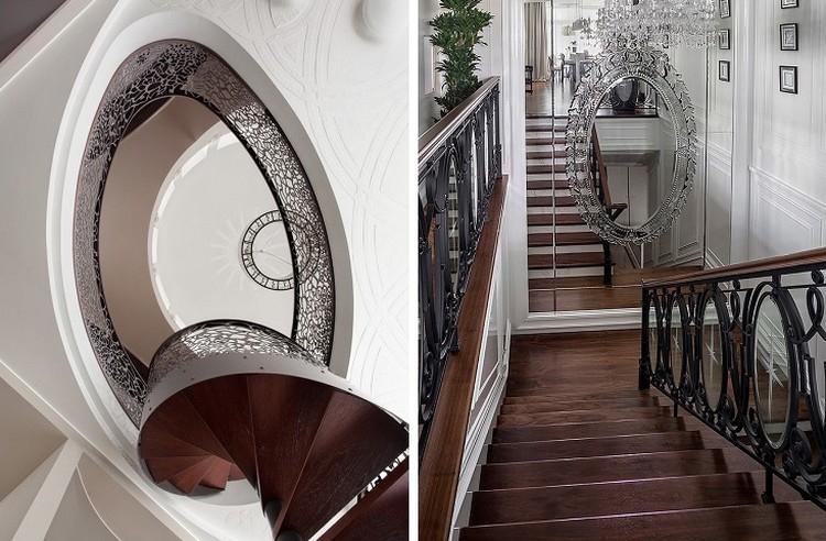 Классический стиль - Стиль и дизайн лестницы на второй этаж