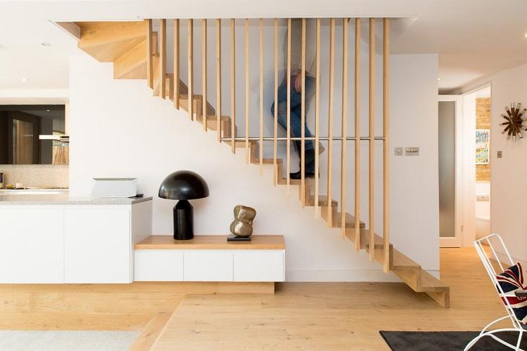 Скандинавский стиль - Стиль и дизайн лестницы на второй этаж