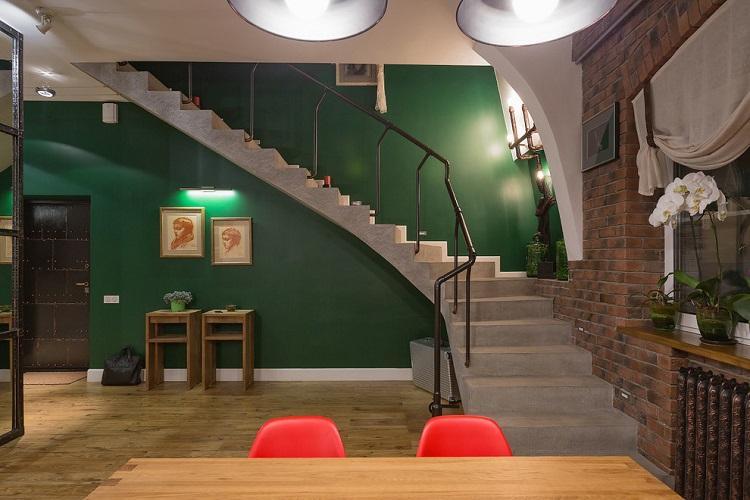 Лестницы на второй этаж из бетона