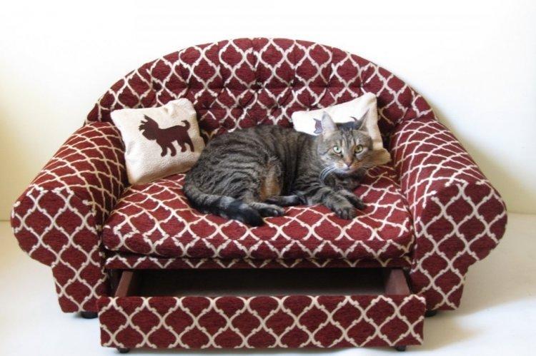Лежанка-диван для кошки своими руками