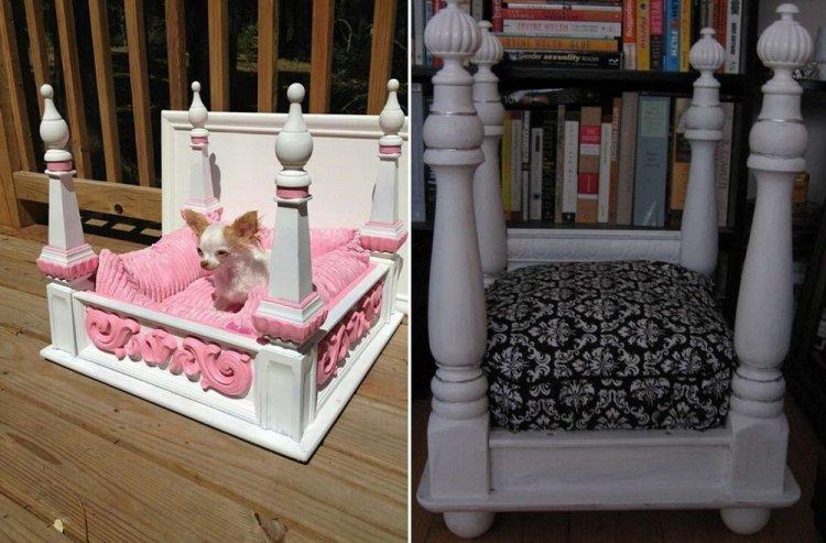 Лежанка из табурета или стола - Лежанка для собаки своими руками
