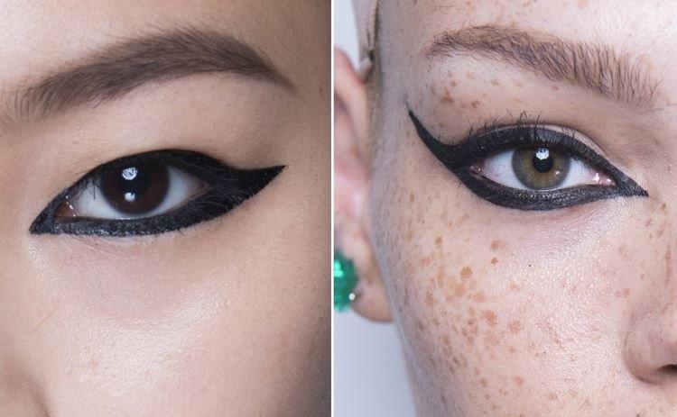 Графичные линии - Ошибки макияжа для карих глаз
