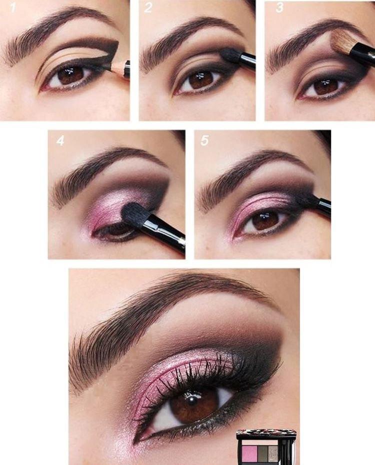 Макияж для карих глаз и светлых волос