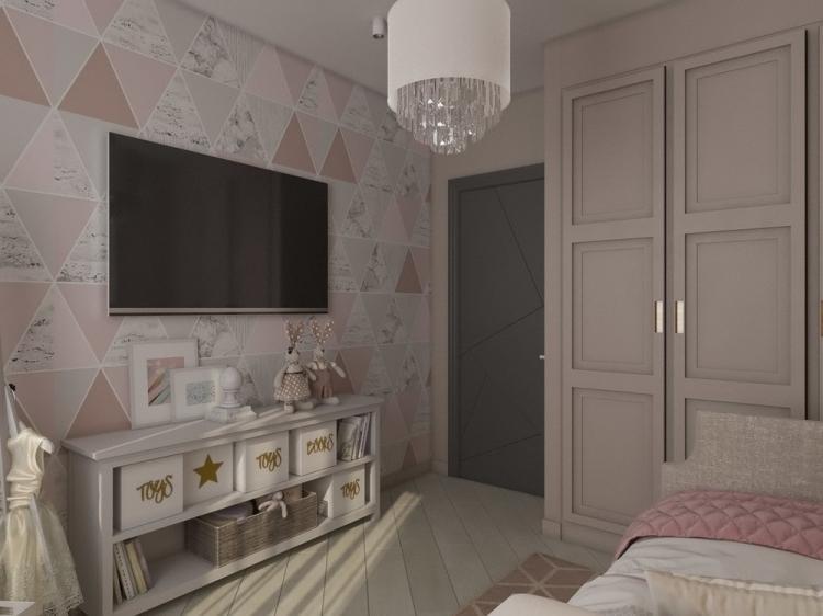 Маленькая детская комната для девочки - дизайн интерьера