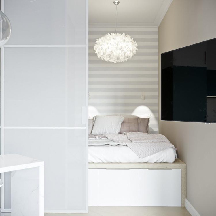 Маленькая квартира в морском стиле, Москва - дизайн интерьера