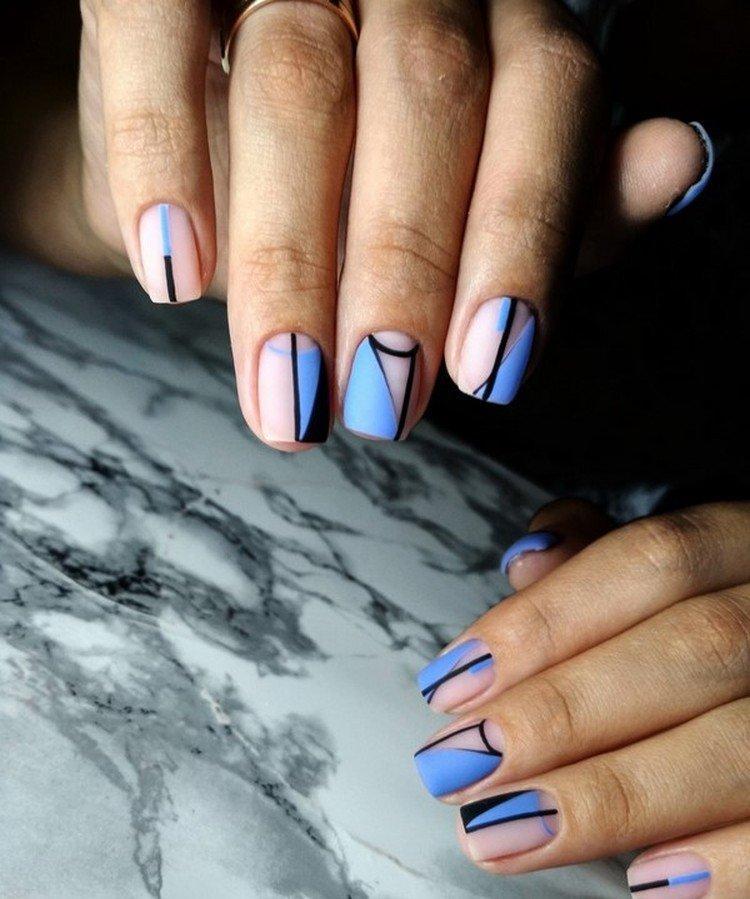 Геометрия и абстракция - Маникюр на короткие ногти 2021