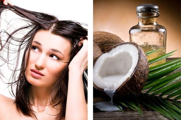 Маска для волос с кокосовым маслом и солью