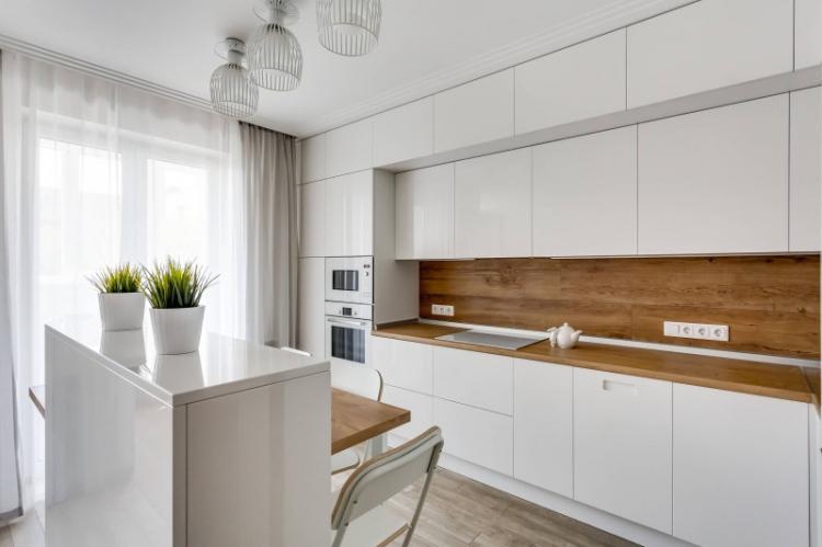 МДФ панели на кухне - фото