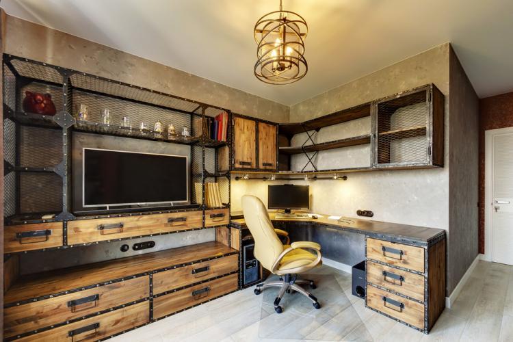 Middle loft: Интерьер квартиры 102 м2