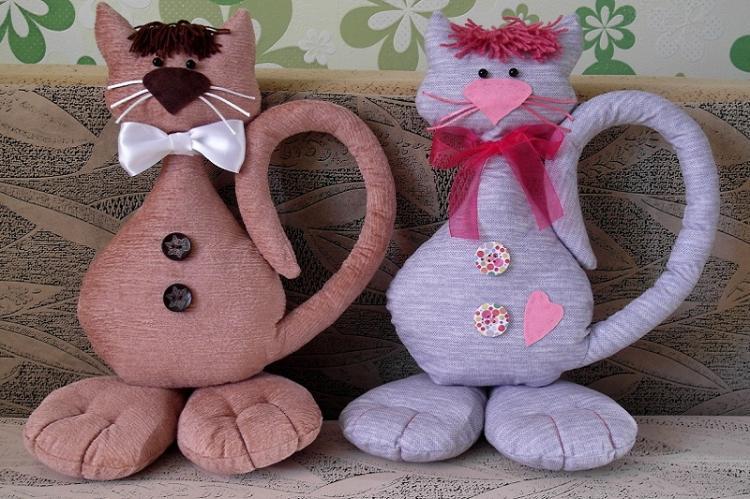 Усатые-полосатые - Мягкие игрушки своими руками