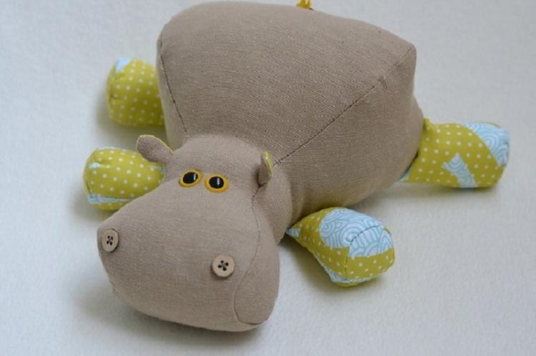 Малыш-бегемотик - Мягкие игрушки своими руками