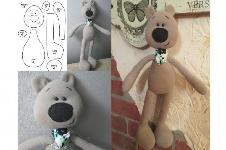 Медвежонок из флиса - Мягкие игрушки своими руками