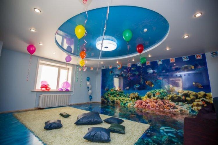 Наливные 3D-полы в детской комнате - фото