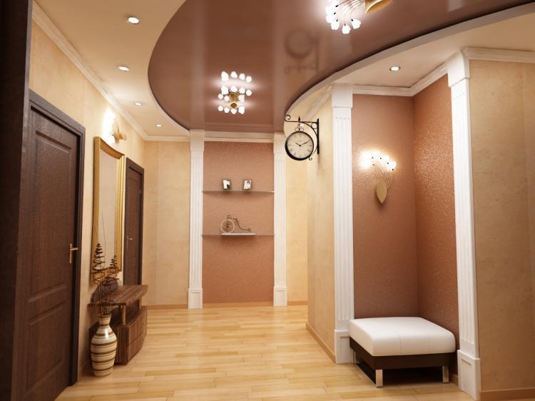 Натяжной потолок в коридоре или прихожей