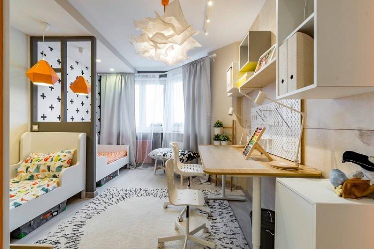 Бежевый - Цвет обоев для детской комнаты