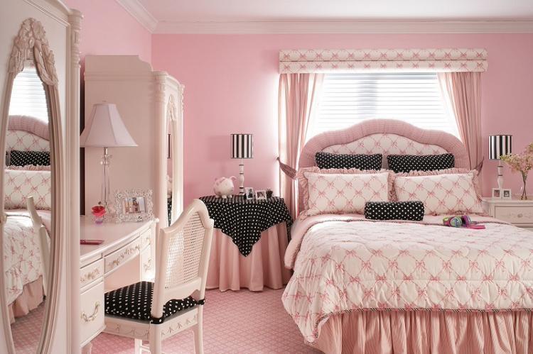 Розовый - Цвет обоев для детской комнаты