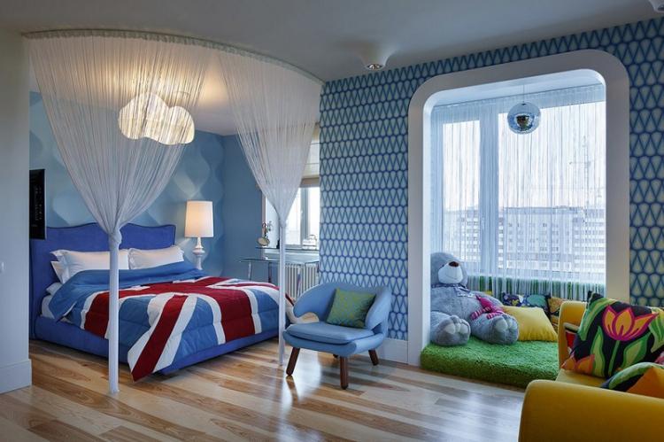 Синий - Цвет обоев для детской комнаты
