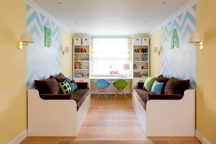 Рисунок и дизайн обоев для детской комнаты
