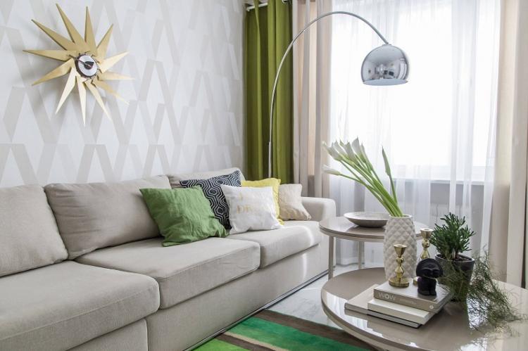 Флизелиновые обои - Виды обоев для гостиной