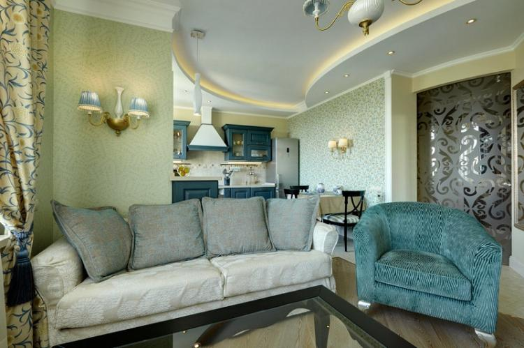 Пастельные тона - Цвет обоев для гостиной