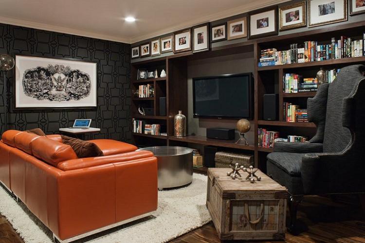 Черный - Цвет обоев для гостиной