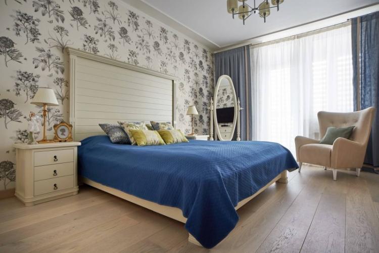 Серый - Цвет обоев для спальни